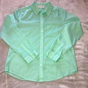 Loft long sleeve button down size small
